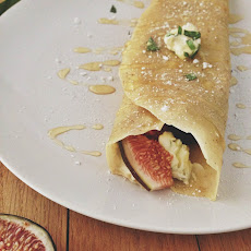 Figgy Crepes With Honey Basil Mascarpone