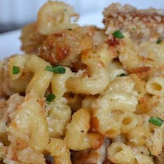 Kicked Up Sausage Macaroni and Cheese