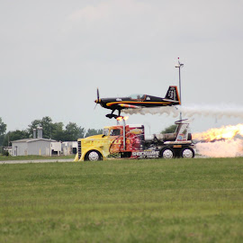 Shockwave Jet Truck & Flash Fire Jet Trucks by Eric Roetter - Novices Only Sports ( shockwave, jet truck, pattywags, dayton ohio, airshow )