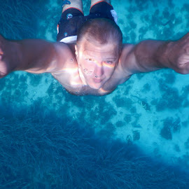 Diver by Dubravka Krickic - People Portraits of Men ( diver, croatia, blue and brown eyes, sea, diving, man )