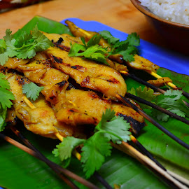 Chicken Satay by Mary Smiley - Food & Drink Plated Food ( chicken satay,  )