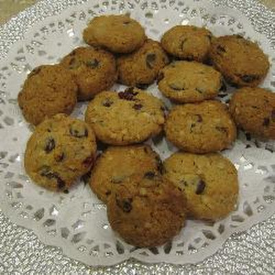 Chocolate Chip And Cranberry Oat Biscuits