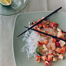 Lobster Salad with Glass Noodles and Jícama