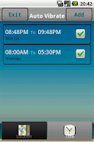 Screenshot of Auto Vibrate (Location & Time)