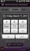 Screenshot of Quick Interest Calculator