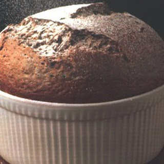 Hot Chocolate Rum Soufflé with Chocolate Sauce