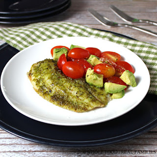 Tilapia with Classic Pesto #SundaySupper