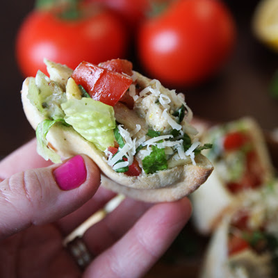 Bruschetta Chicken Pesto Wraps