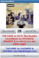 Screenshot of Oasis SoundQuiz