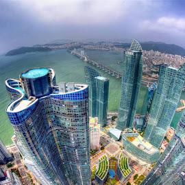 Marine city in Busan by Simon Bond - City,  Street & Park  Skylines