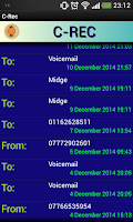 Screenshot of C-Rec call recorder