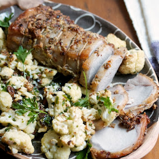Pork Loin Roast with Sicilian Cauliflower
