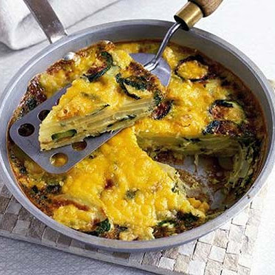 Courgette, Potato & Mint Frittata
