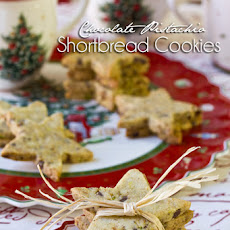 Pistachio-Chocolate Shortbread Cookies