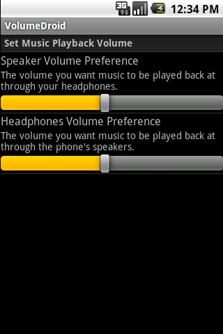 volumedroid for android screenshot