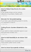 Screenshot of Gardening Tips