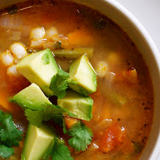 Mexican Vegetable Soup with Lime and Avocado