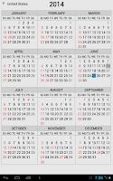 Screenshot of Wallet Calendar