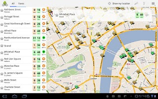 Screenshot of Cycle Hire Widget Lite