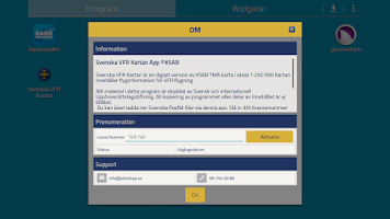 Screenshot of Svenska VFR Kartan