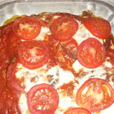 Eggplant, Tomato, and Cheese Bake
