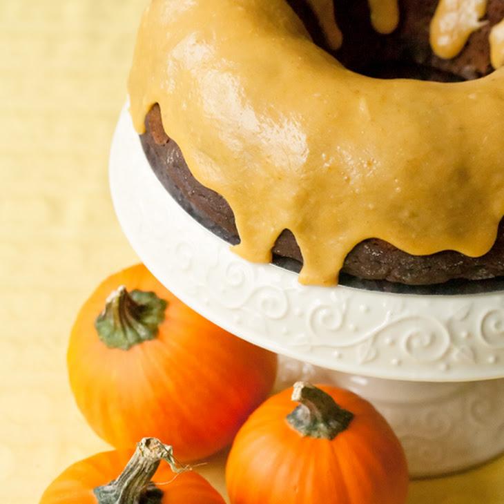Iced Pumpkin Chocolate Spice Bundt Cake Recipe | Yummly