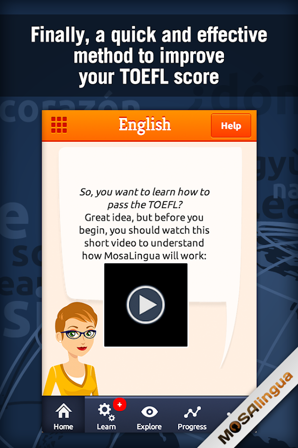 Learn TOEFL Vocabulary Screenshot