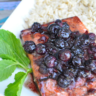 Blueberry Balsamic Glazed Salmon