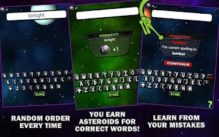 Screenshot of Spelling Space - 4th Grade