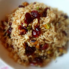 Curried Cranberry and Pistachio Rice