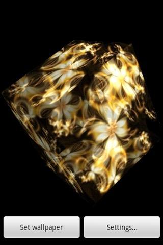 3D 黄金の花