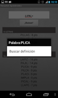 Screenshot of Solve Apalabrados Spanish