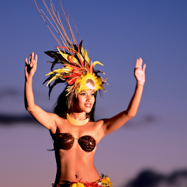 Hawaiian Hula dancer by Sean O'Brien - People Musicians & Entertainers ( hula, beautiful, graceful, dance, hawaii,  )
