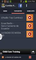 Screenshot of Cumbia Radio