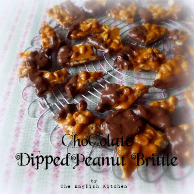 Chocolate Dipped Peanut Brittle
