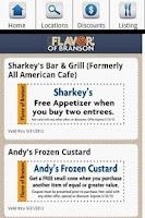 Screenshot of Branson Restaurants