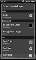 Screenshot of Coder's Live Wallpaper