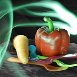 Food on the table! by Alice Chia - Abstract Light Painting (  )