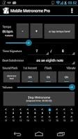 Screenshot of Mobile Metronome Pro