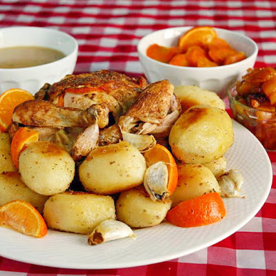 (pictured with English Style Roast Potatoes with Roasted Garlic, Apricot Apple Relish, Brown Sugar and Orange Glazed Carrots and Double Reduced Gravy)