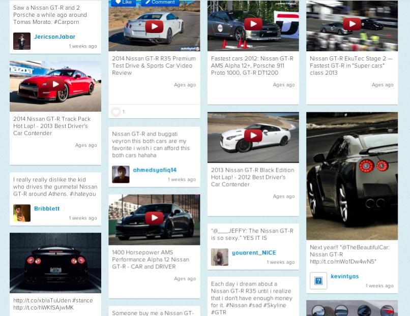 Nissan GTR videos