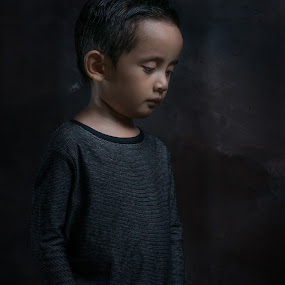 lonely by Syam Kiki - Babies & Children Child Portraits ( studio, portraiture, 50mm, kids )