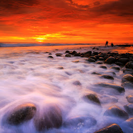 Red Sunset by Bambang Pawiroredjo - Landscapes Sunsets & Sunrises