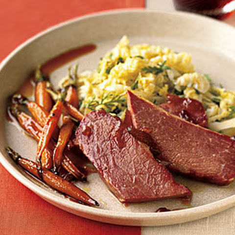 Corned Beef and Carrots with Marmalade-Whiskey Glaze