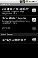 Screenshot of Navigation Pro
