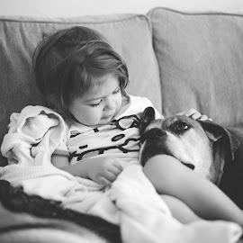 Best Friends by Hillary Blair - Babies & Children Toddlers ( pet, dog, toddler )