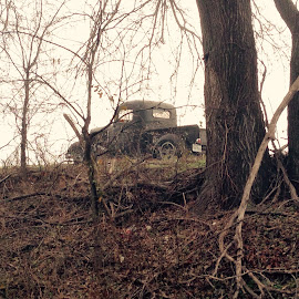 Truck in the woods by Mike Dietze - Novices Only Objects & Still Life