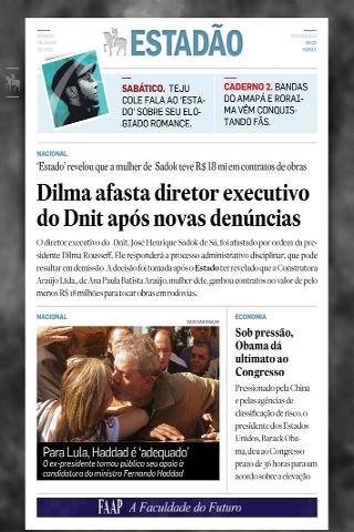 Notícias do Estadão > Tablet