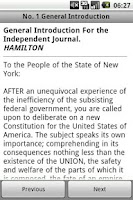 Screenshot of The Federalist Papers