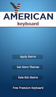 Screenshot of American Keyboard Theme